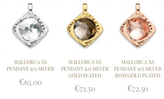 Mi-Moneda-Mallorca-XS-Pendant-zilver,-rose-gold-plated-bij-Wolters-Juweliers-Coevorden-Emmen