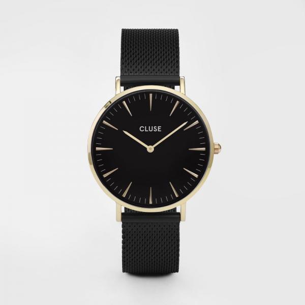 CLUSE-LA-BOHEME-MESH-GOLD-BLACK-CL18117-kopen-bij-Wolters-Juweliers-Coevorden-Emmen
