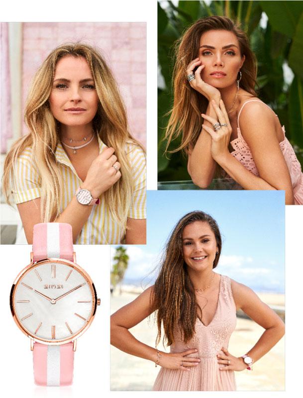 Zinzi-retro-horloge-pastel-streep-parelmoer-wijzerplaat-kopen-bij-Wolters-Juweliers-Coevorden-Emmen