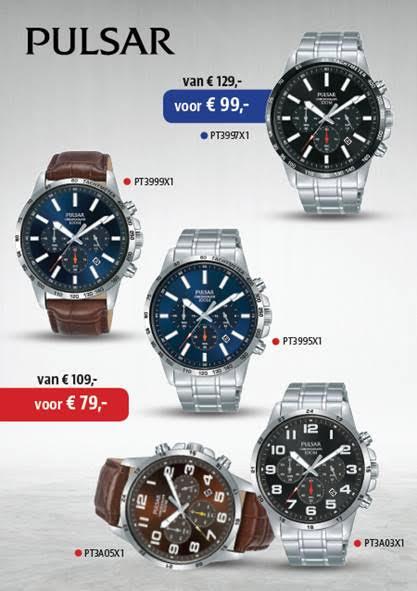 Pulsar horloge aanbieding korting bij Wolters Juweliers Coevorden Emmen