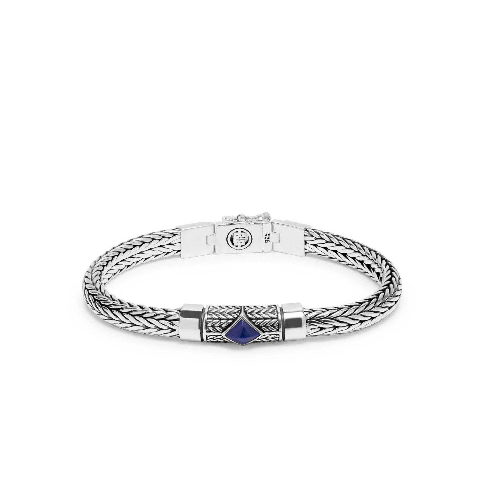 Buddha To Buddha Armband Blauw.Buddha To Buddha Armband Ellen Xs Stone Blauw