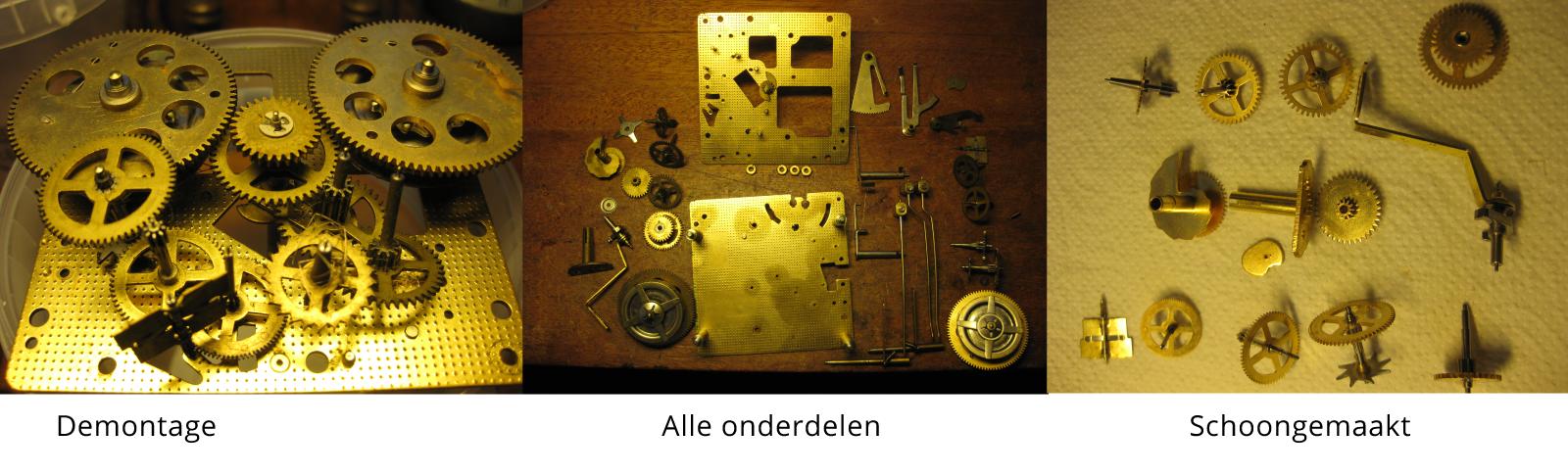oude klok repareren bij Wolters Juweliers Coevorden Emmen