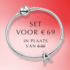 Pandora armband valentijn alfabet actie Wolters Juweliers Coevorden Emmen