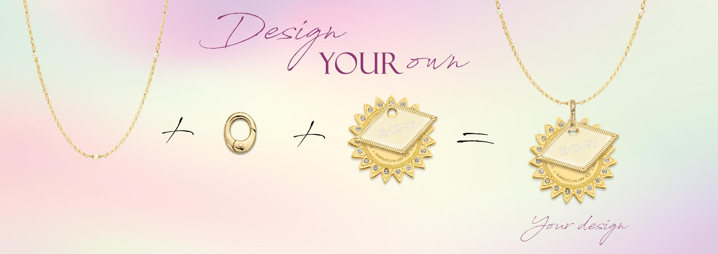 MI MONEDA Monogram maak je eigen monogram sieraad Wolters Juweliers Coevorden Emmen
