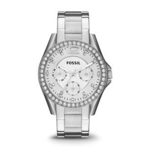 Fossil-horloge-stalen-band-zilver-witte-wijzerplaat-ES3202 Wolters Juweliers Coevorden Emmen