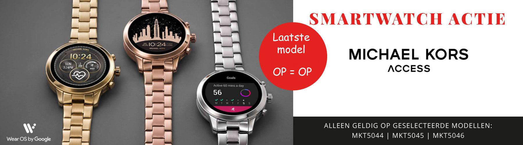Micheal Kors Smartwatch actie shop nu bij Wolters Juweliers Coevorden Emmen