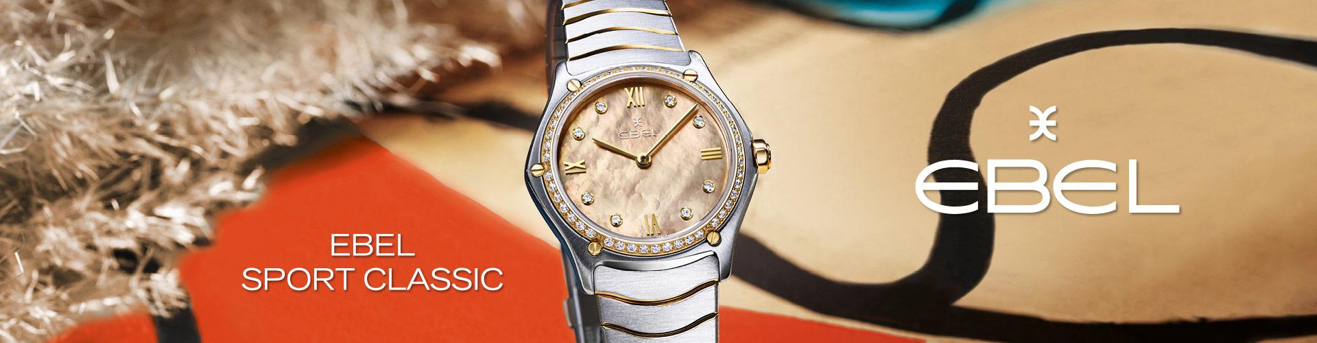 EBEL horloge koop je bij Wolters Juweliers. De EBEL SPORT CLASSIC is de topper.